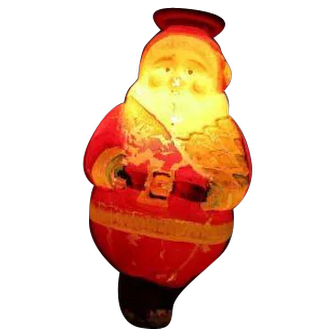 Vintage C-7 WORKING Japanese Figural Christmas Light - Standing Santa