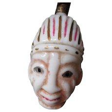 Rare C-6 Christmas Figural Light Bulb - Native w Head Dress