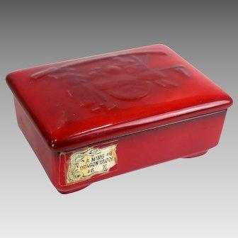 Brad Keeler Ceramics Ming Dragon Blood Trinket Box