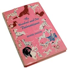 The Hundred and One Dalmatians by Dodie Smith 1957 HC Book Pink