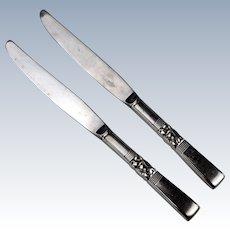 Oneida Community Morning Star 2 Silver Plated Dinner Knives
