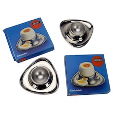 Set of 2 Stainless Steel Egg Cups Quist Made in West Germany