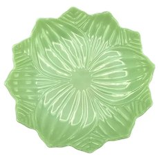 Fire King Jadeite Lotus Plate 8 Inches