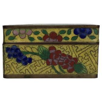 Circa 1900 Chinese Cloisonné Box