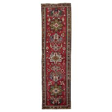 Vintage Persian Karajeh Runner, 3'x11', Hand-Knotted