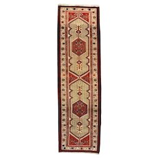 Persian Sarab Runner, 3' x 11', Ivory, Hand-Knotted Wool Pile
