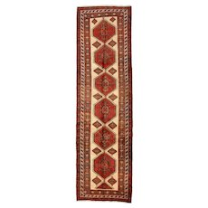 Persian Sarab Runner, 4' x 13', Beige, Hand-Knotted Wool Pile