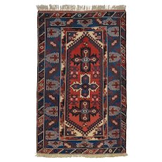 Vintage Persian Luri Rug, 4'x6', Hand-Knotted