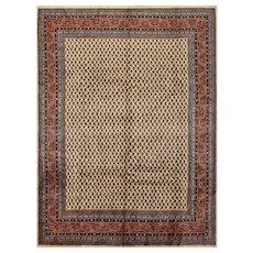 Vintage Persian Mir-Seraband Rug, 8'x11', Hand-Knotted