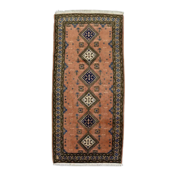 Vintage Persian Meshkin Rug, 5'x10', Hand-Knotted