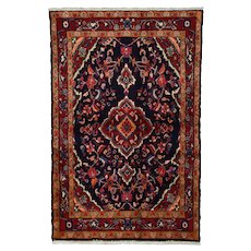 Vintage Persian Malayer Rug, 3'x5', Hand-Knotted