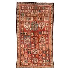 Vintage Persian Qashqai Rug, 5'x9', Hand-Knotted Wool Pile