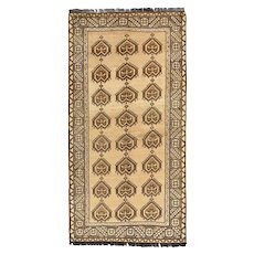 Vintage Persian Gabbeh Rug, 4'x7', Hand-Knotted