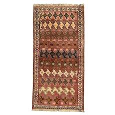 Vintage Persian Qashqai Rug, 3'x5', Hand-Knotted
