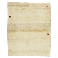 Vintage Persian Gabbeh Rug, 4'x6', Hand-Knotted