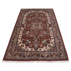 Persian Bidjar Rug, 5'x7', Copper/Blue, All wool pile