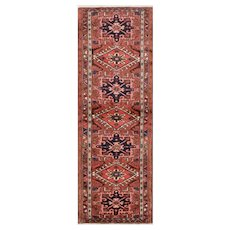 Vintage Persian Karajeh Runner, 2'4''x6'8'', Red, All wool pile