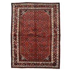 Persian Hamadan Rug - 5' x 7' - Hand-Knotted Wool Pile