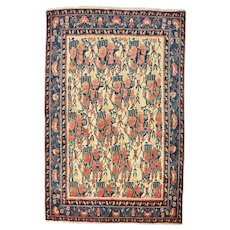 Persian Afshar Rug, 5' x 8', Hand-Knotted Wool Pile
