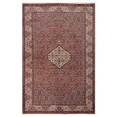 Fine Persian Bidjar Rug, 5' x 7', Red/Ivory, All wool pile