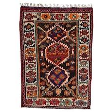 Vintage Persian Qashqai Rug, 4'x6', Hand-Knotted