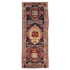 Vintage Persian Sarab Rug, 5'x11', Hand-Knotted