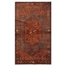 Vintage Persian Hamadan Rug, 4' x 8', Purple, All wool pile