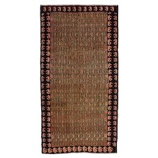 Vintage Persian Koliai Rug, 5'x9', Hand-Knotted Wool Pile