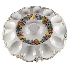 Mid century, Egg and Relish plate.