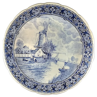 Delfts 12 in plate