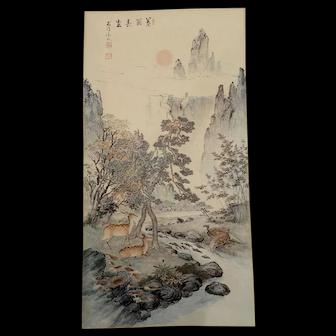 Oriental Fine Art Print  10.5 x 20 inches