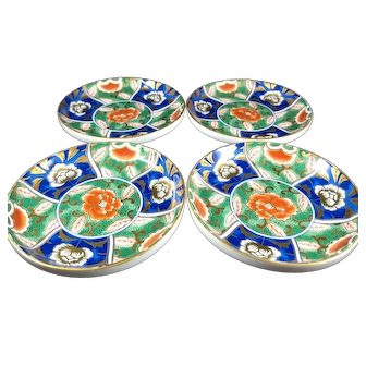Set of 4 Oriental bowls, 3.5 inch diameter each.  Mark on the bottom.