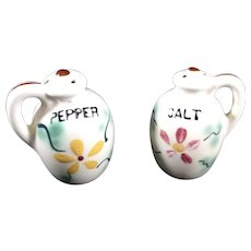 Salt and Pepper Shakers, vintage jugs, 2.25 inches high