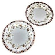 Set of 2 plates. W.A.A. &Co. England