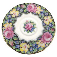 "Saucer Marked Paragon ""Gingham Rose"" 5 inches in diameter"