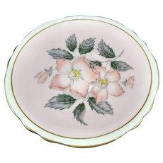 5.5 inch diameter saucer.  Marked Paragon Fine Bone China England