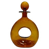 Pairpoint Glass Co. Doughnut Decanter