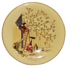 Royal Worcester Elf Decorated Pedestal Service Plate
