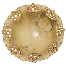 Royal Bayreuth Old Ivory Small Footed Bowl