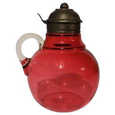 """Cranberry Syrup Jug - """"Tubby"""""""