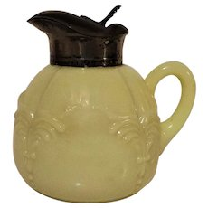 Heisey Winged Scroll Ivorina Verde Syrup Jug
