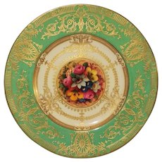 Royal Worcester Hand Painted Decorative Plate