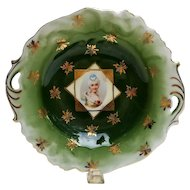 R.S. Prussia Child's Portrait Cake Plate