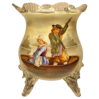 Bohemian Harrach Art Glass Footed Vase