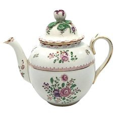 Antique Booths Silicon China Teapot, Cottage Flowers