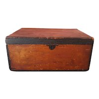 Painted Box in Brown and Black