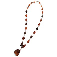 Graduated Two-toned Amber Necklace