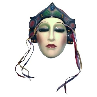 """1987 """"About Face Ceramic"""" Female Mask"""