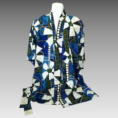 1970's Men's Large Cotton Robe Hawaiian Fashions