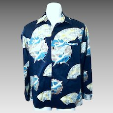 1970's Men's Small Tori Richard Long Sleeve Shirt